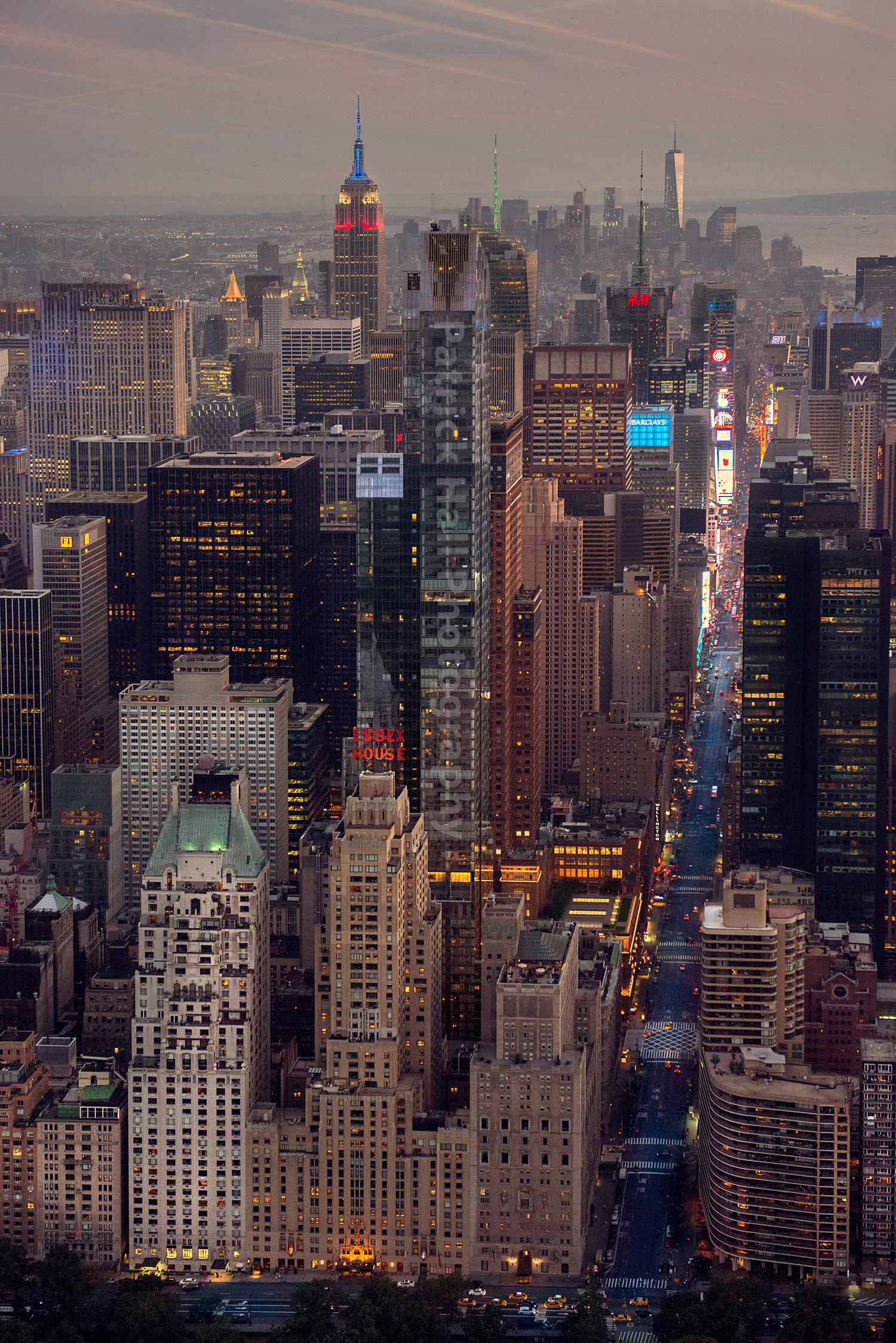 Stunning New York City Skyline at Sunset