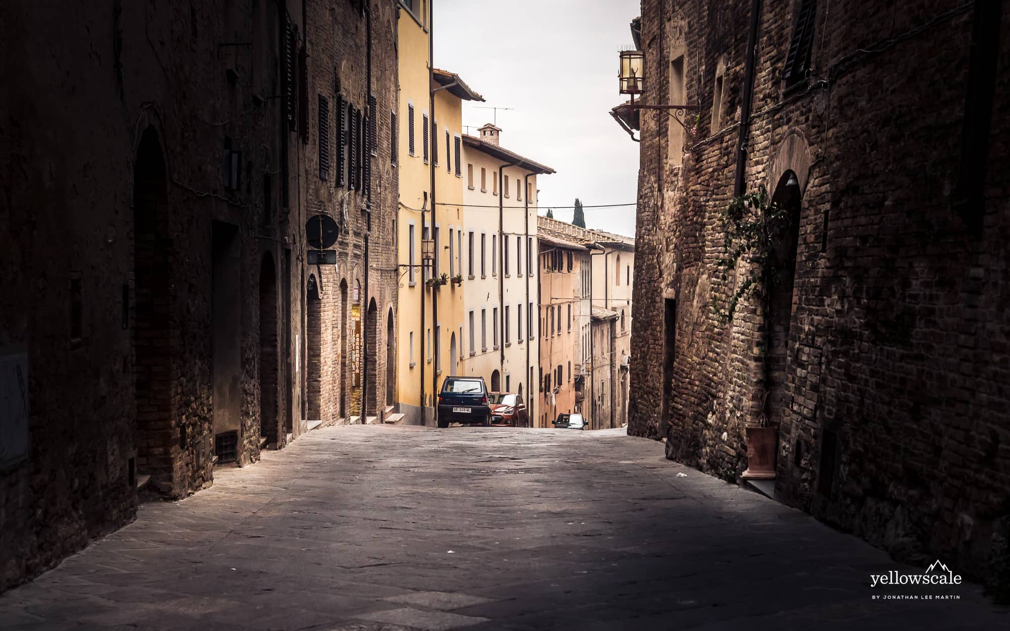 Street in Montepulciano, Italy.