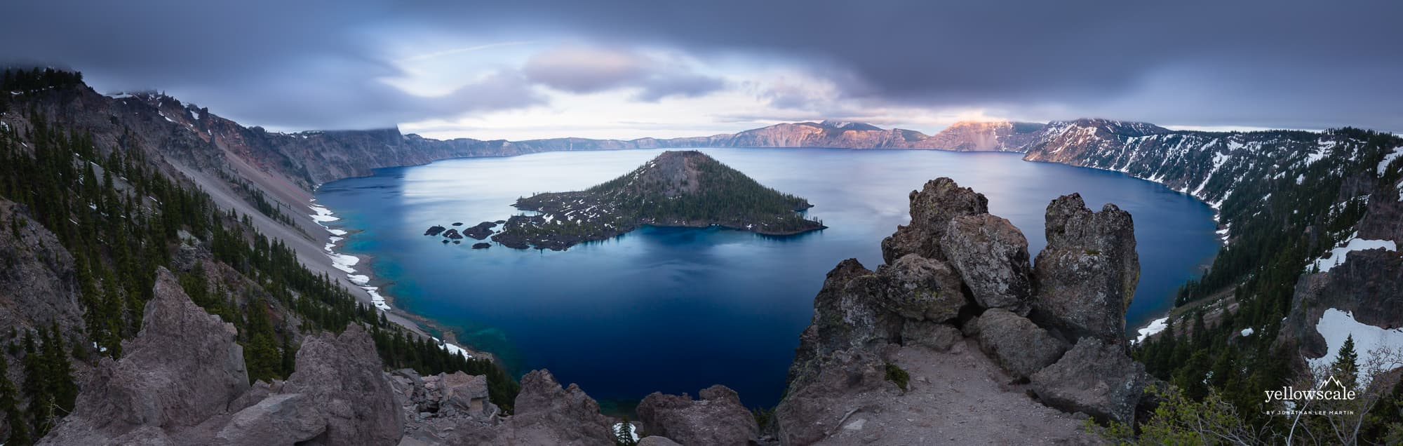 Pano of Crater Lake, Oregon