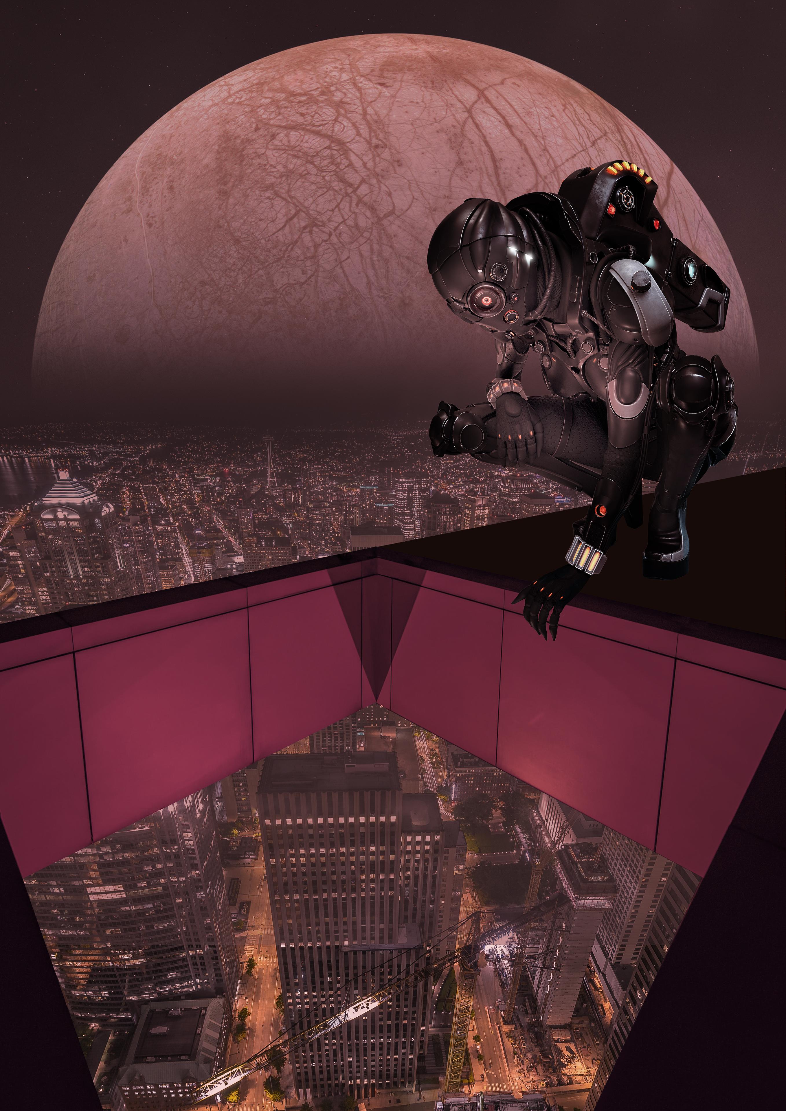 looking down before - Create a Metropolis Glow With the Oniric Plugin