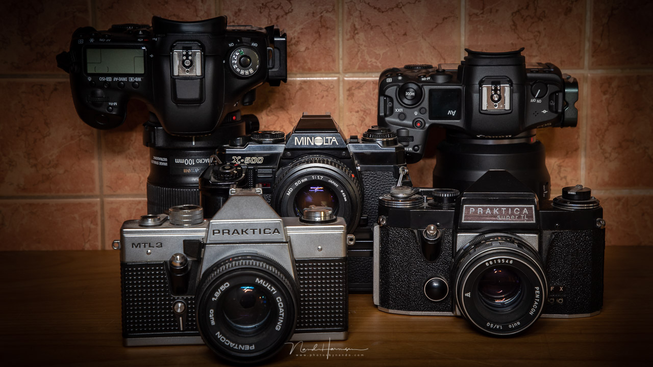 The cameras I have used throughout the years