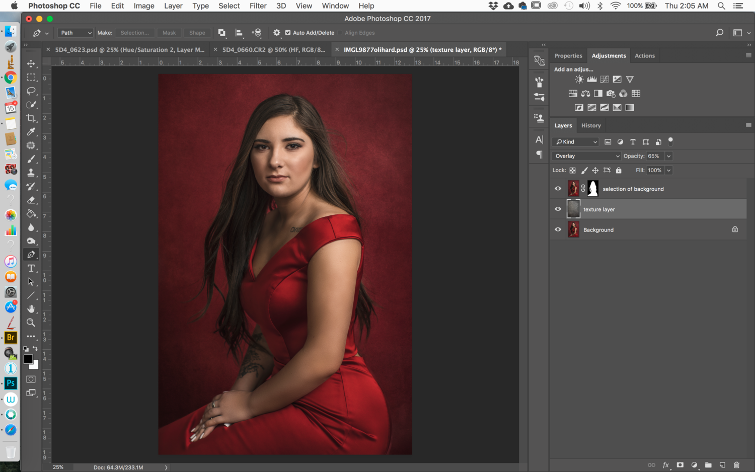 Faking a High End Portrait Backdrop With Texture Overlays