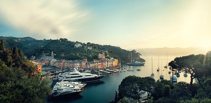 Sunrise in Portofino by Michael Woloszynowicz