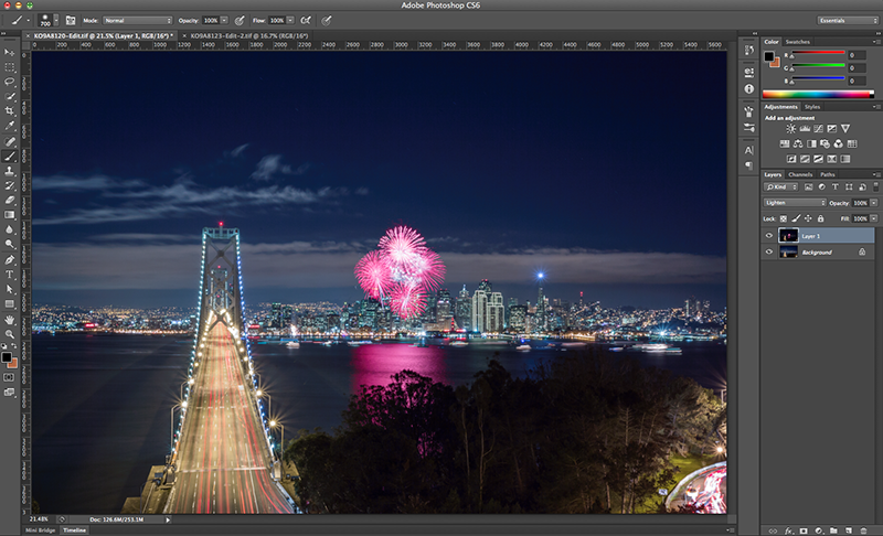 How to Nail Your New Year's Firework Photos and Blend Them in