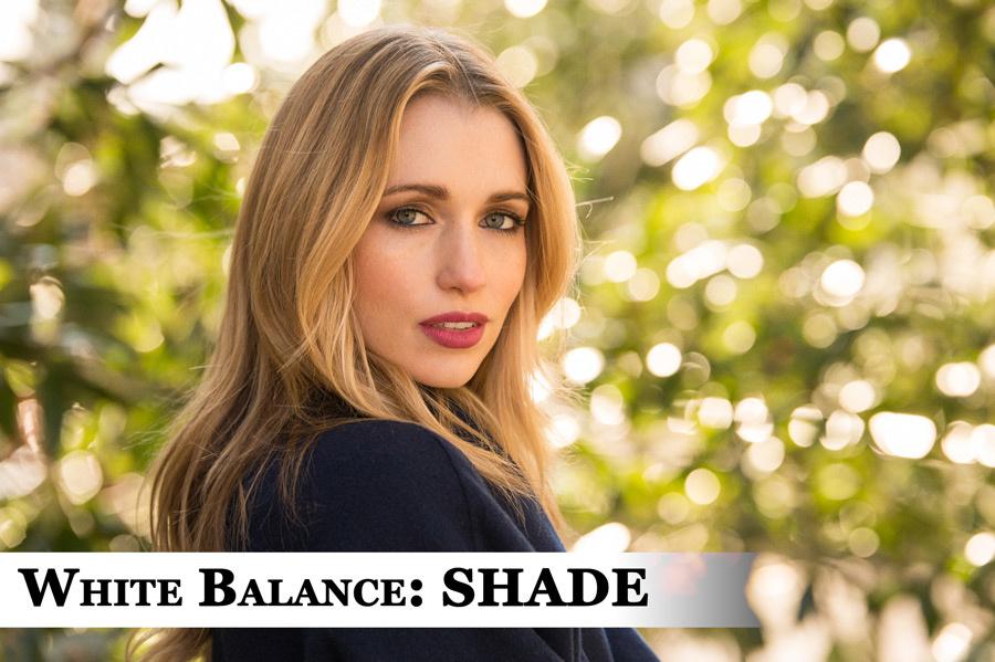 Portrait with White Balance set to Shade.