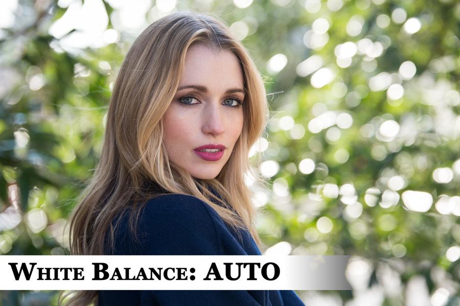 Portrait with White Balance set to Auto.