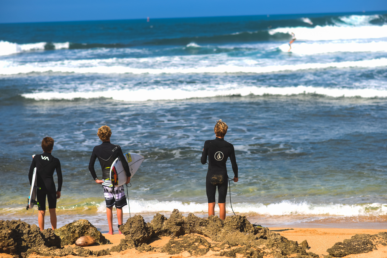Surfer Kids at North Shore