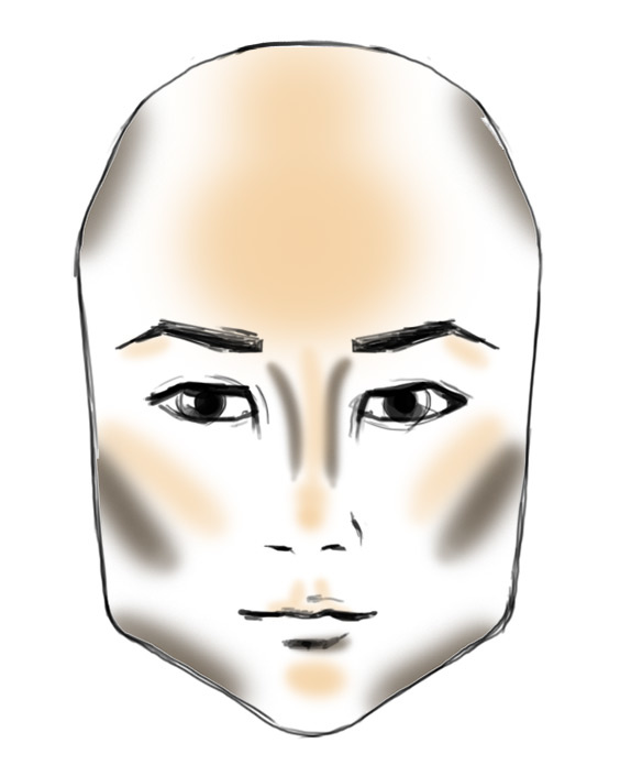 contour like a makeup artist depending on face shapes