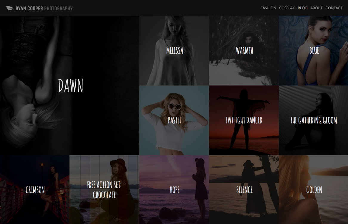 Example of a Simple Photography Layout
