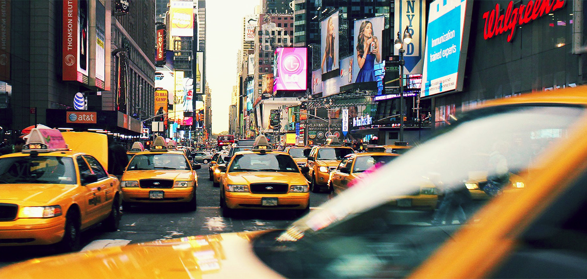 New York City Taxis - Photo by Hillary Fox