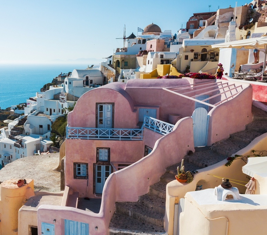 Homes of Oia, Santorini, Greece - Photo by Hillary Fox