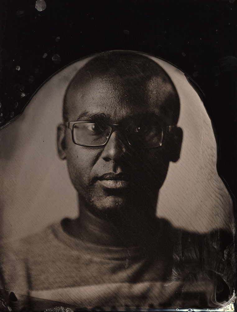 Second exposure in collodion process