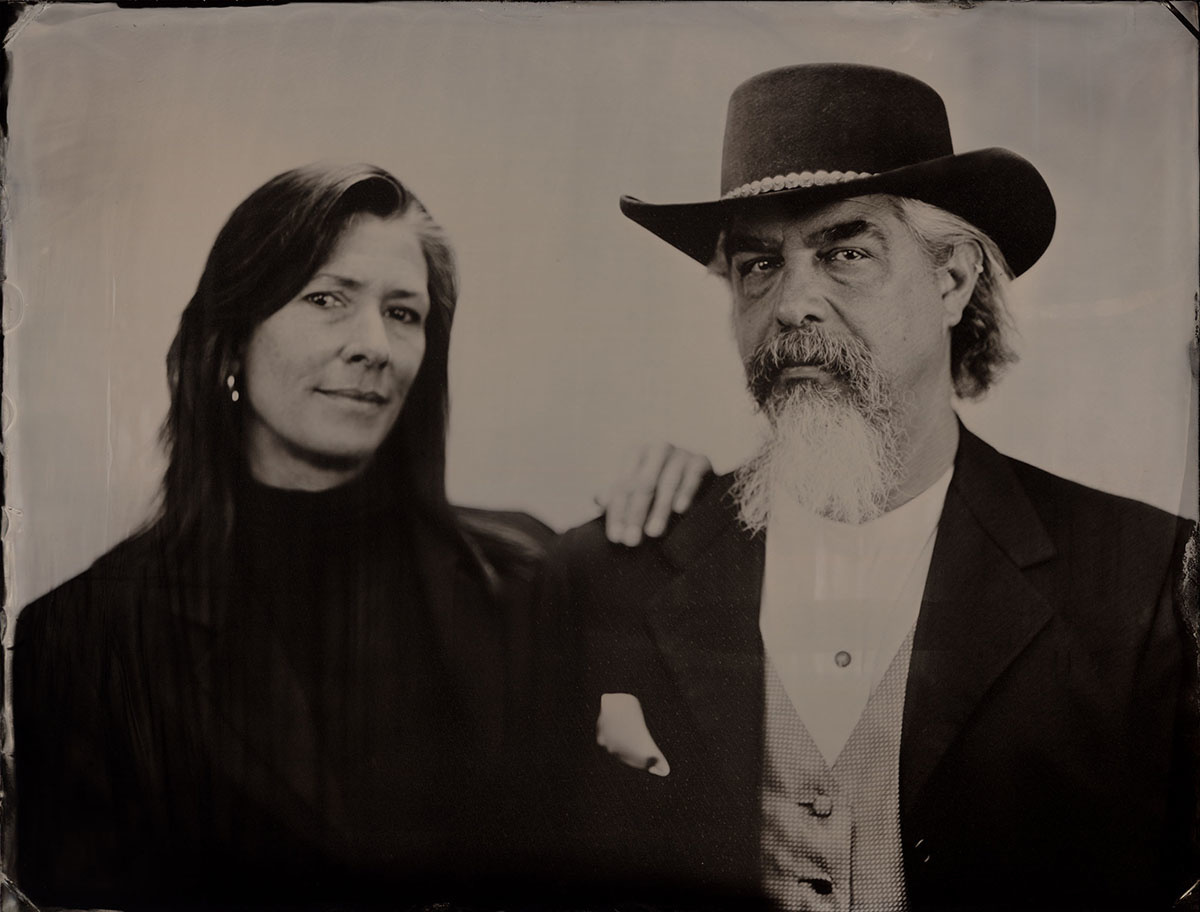 A wet plate collodion portrait by Patrick Andrade