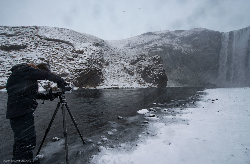 Landscape Photography & Post-processing Tutorial Video - Elia Skogafoss Snow