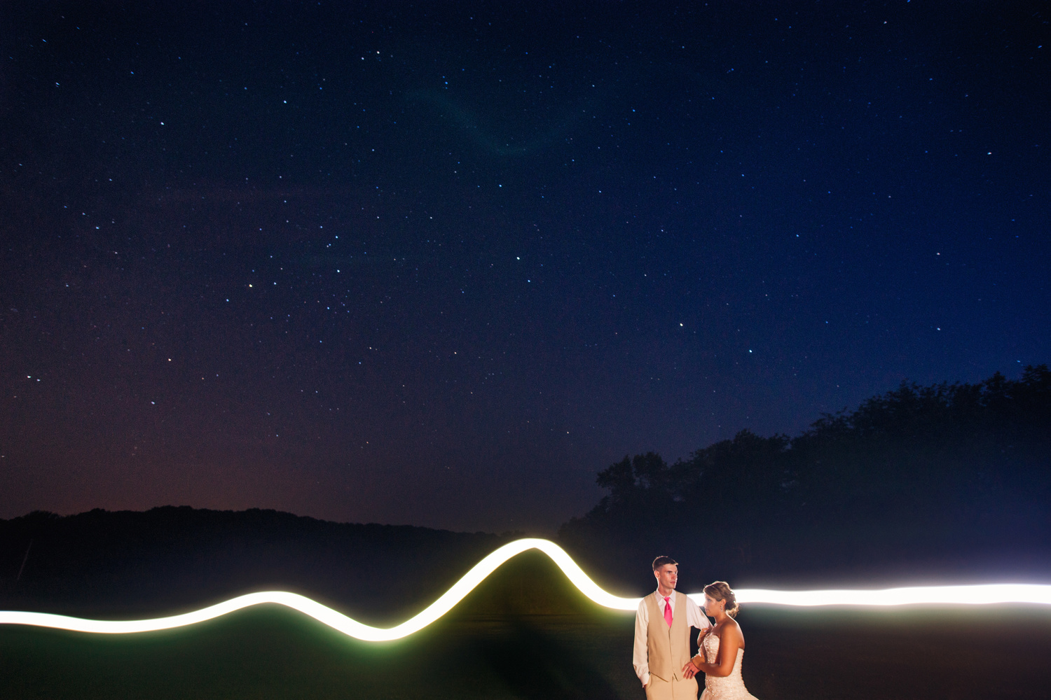 Light Painting Wedding Photography: How To Incorporate Night Photography Into The Wedding Day