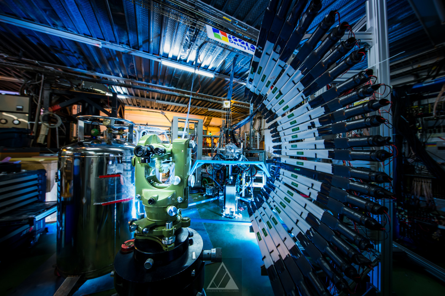 A particle detector for radioactive isotopes at CERN - Photo by Andrew Hara