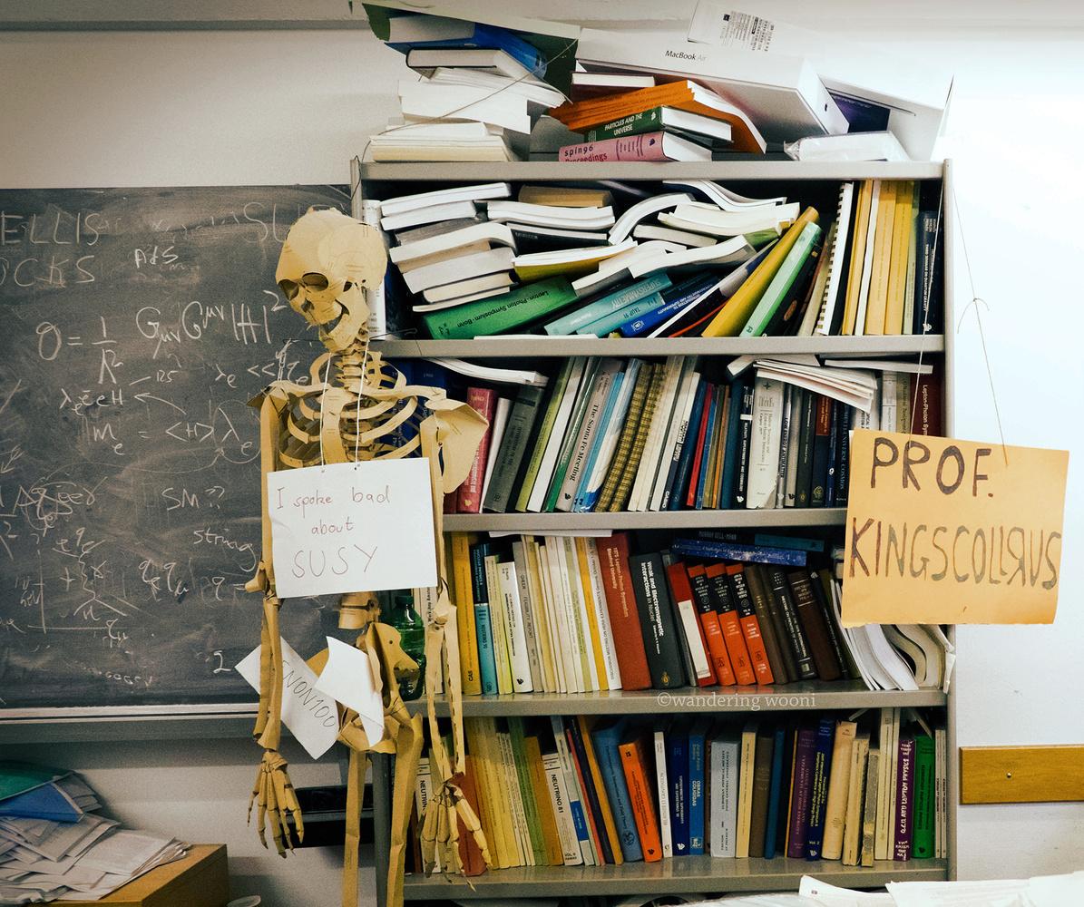 The office of CERN theorist John Ellis - Photo by Christine Woodard