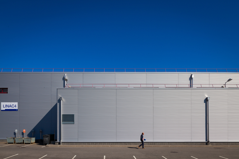 Outside the LENAC4 Building at CERN - Photo Gaetano Cessati