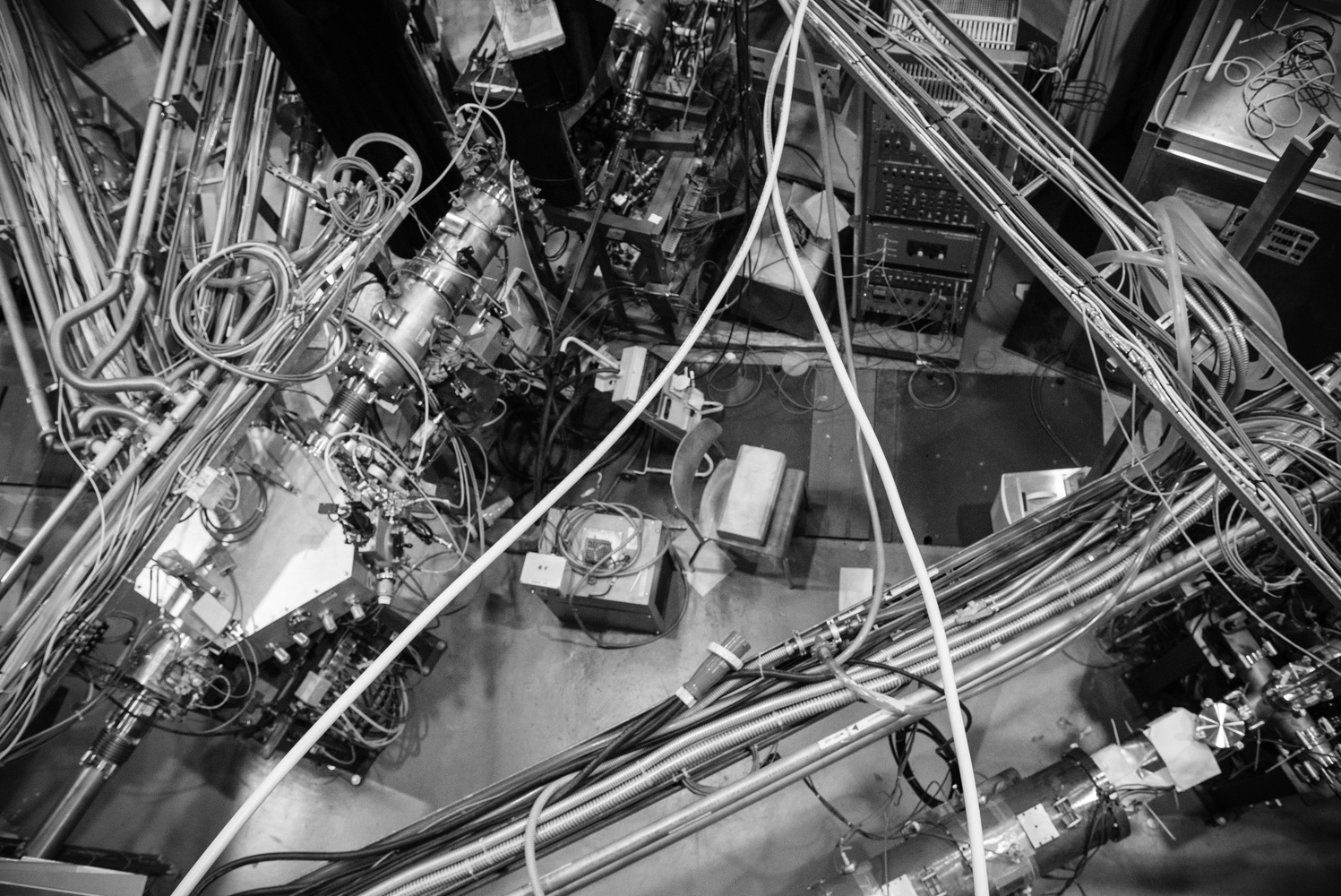 A view of an ISOLDE experiment from above - Photo by Mask Mae