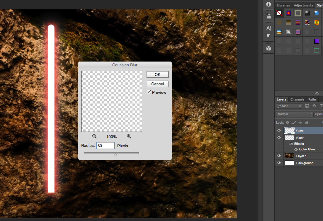 How To Create A Realistic Lightsaber In Photoshop | Fstoppers