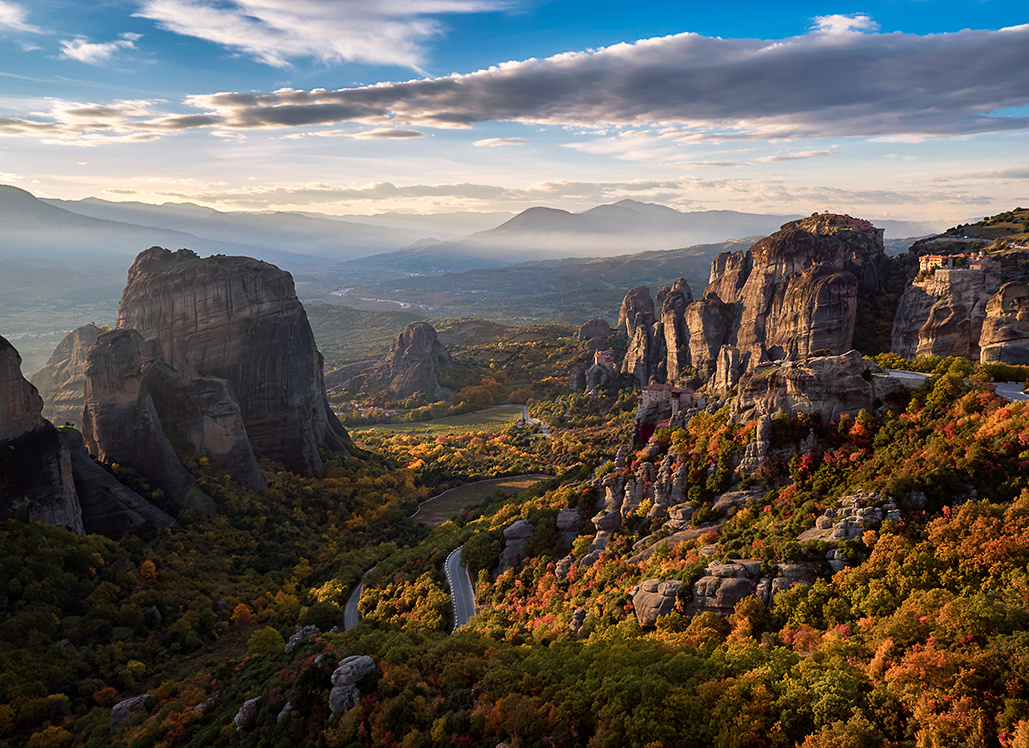 DJI Inspire X5 Image of Meteora Greece by Elia Locardi