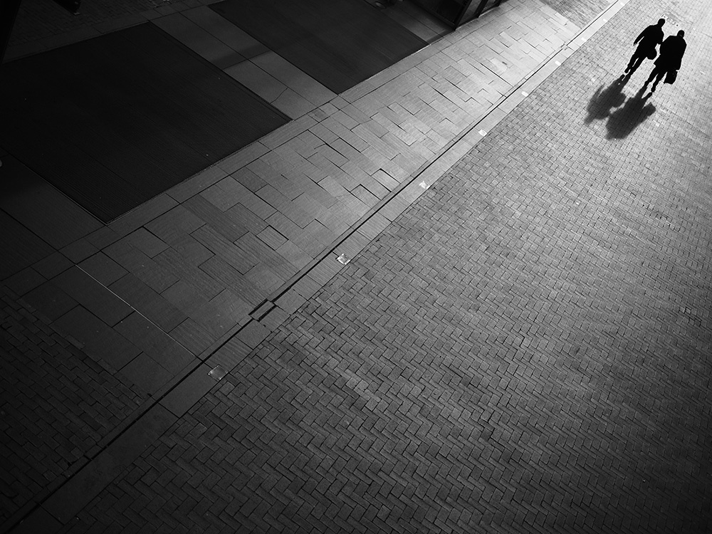 minimal black and white street photography