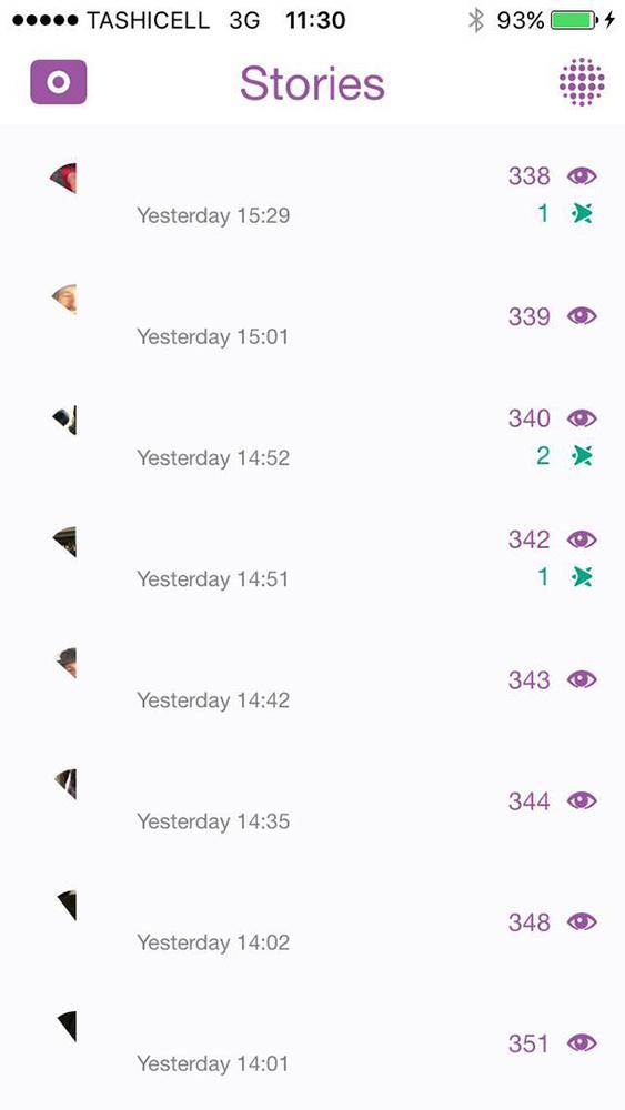 Elia Locardi - Snapchat Story Interface