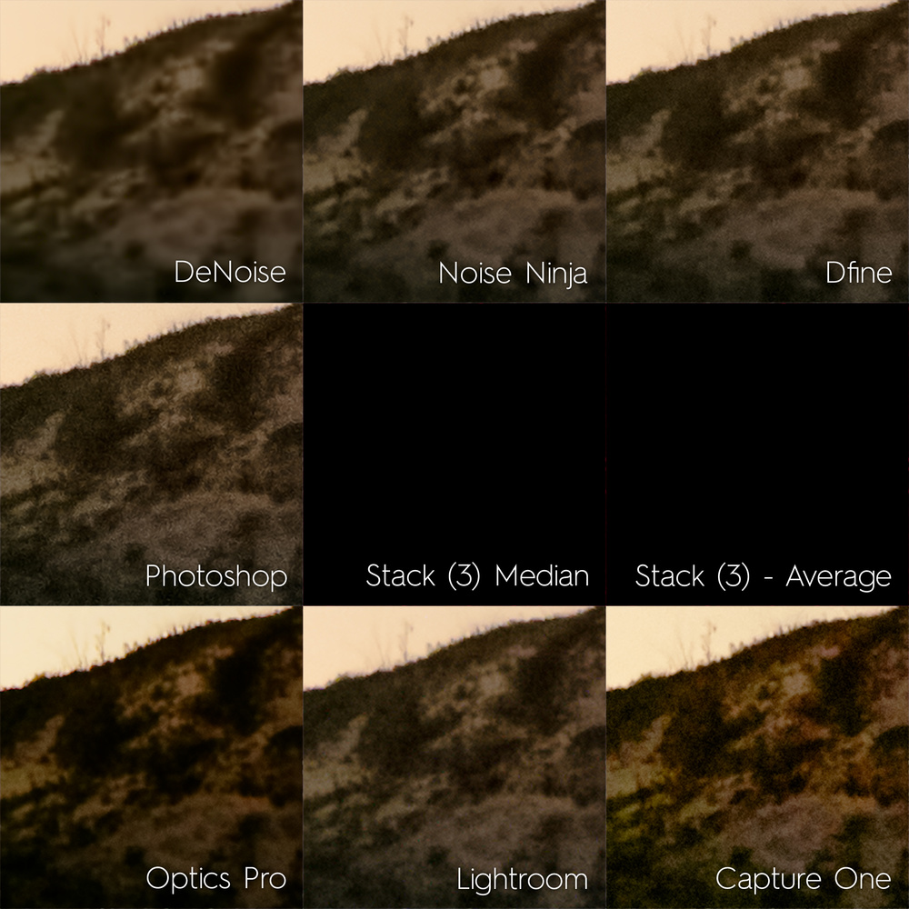 The Ultimate Comparison of Nine Noise Reduction Methods for Night