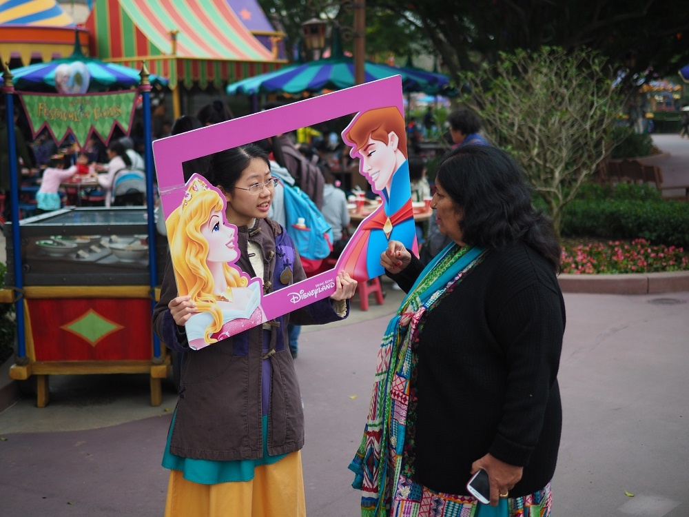 hong kong disneyland street photography