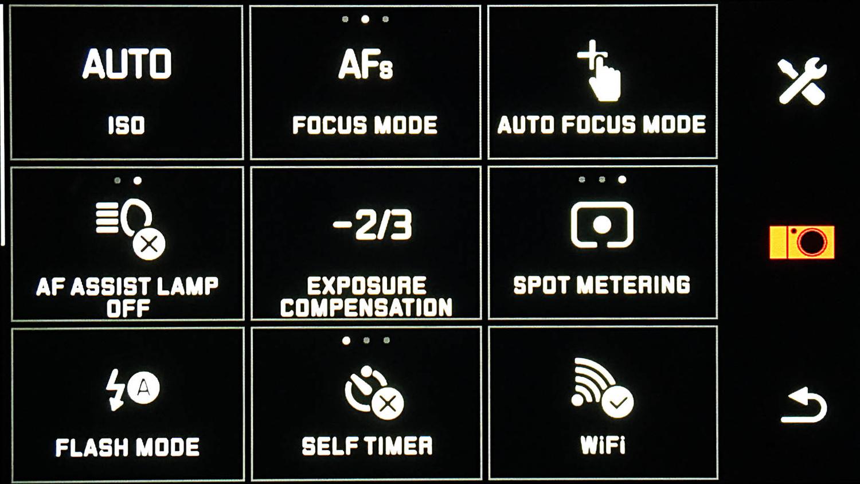 Photo of Leica T menu app drawer