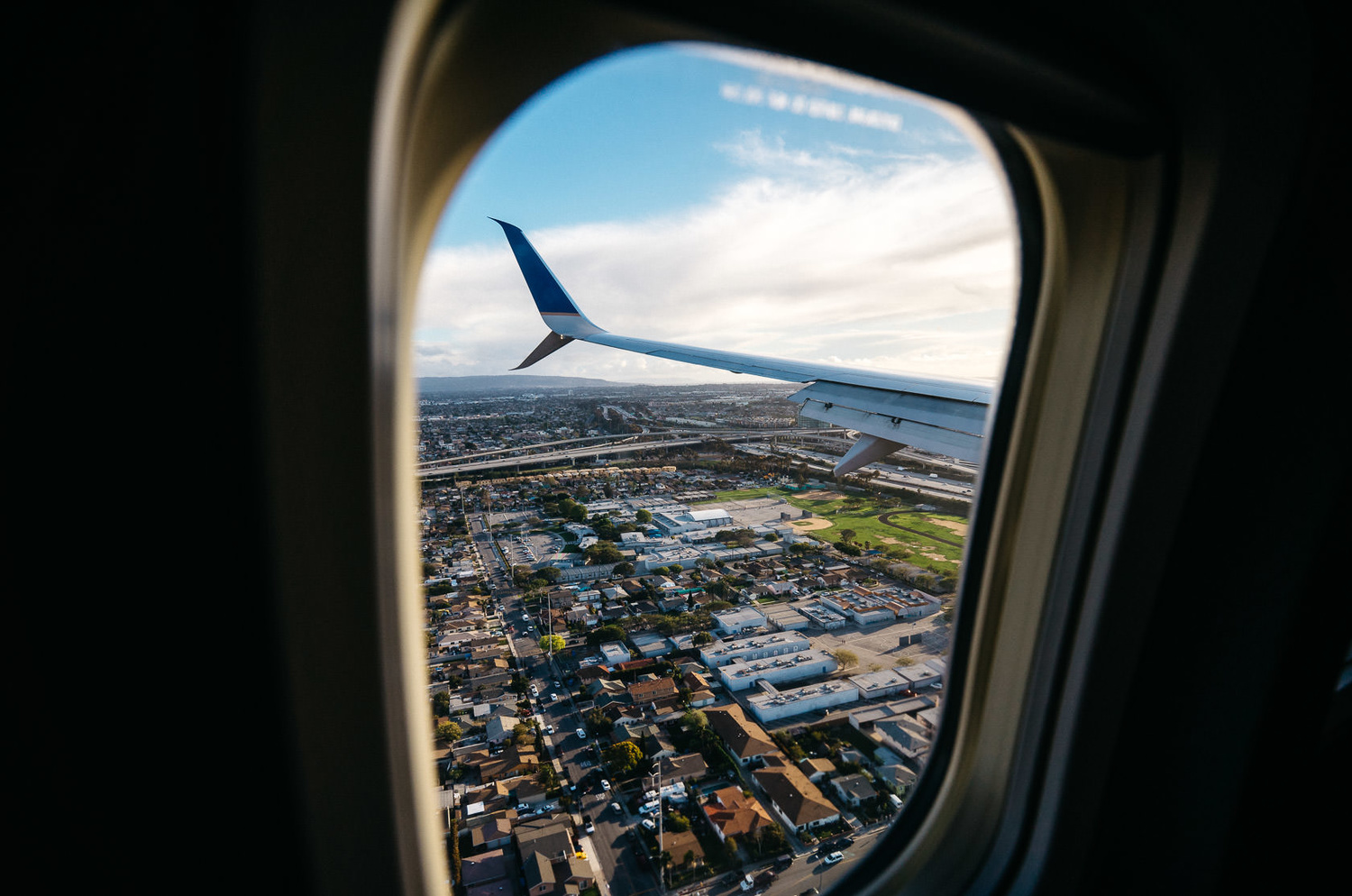 Photo of Leica T on airplane over Los Angeles