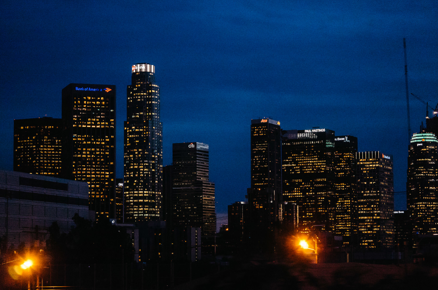 Photo of downtown Los Angeles with the Leica T at ISO 3200