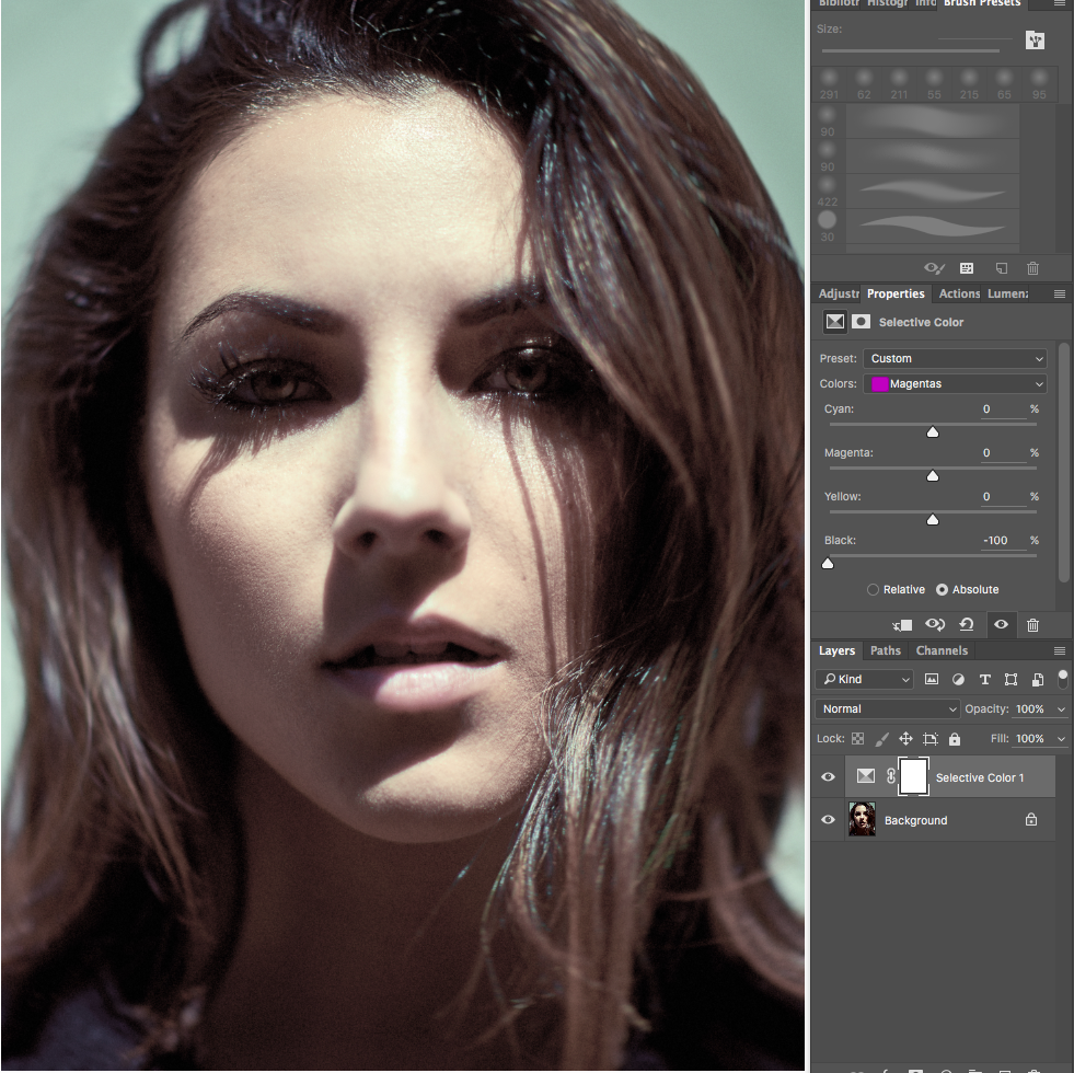 Four Visual Help Layers To Make Color Correction In Photoshop A