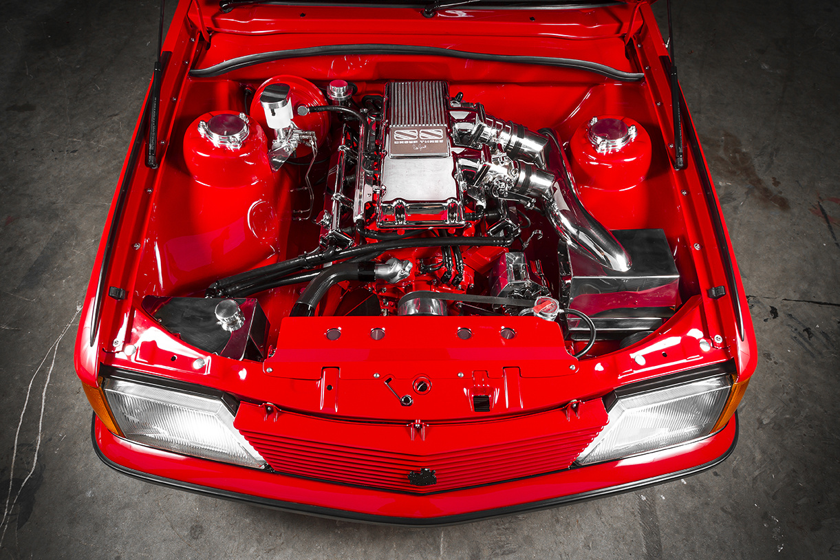 Engine Bay of the VH SS Holden Commodore