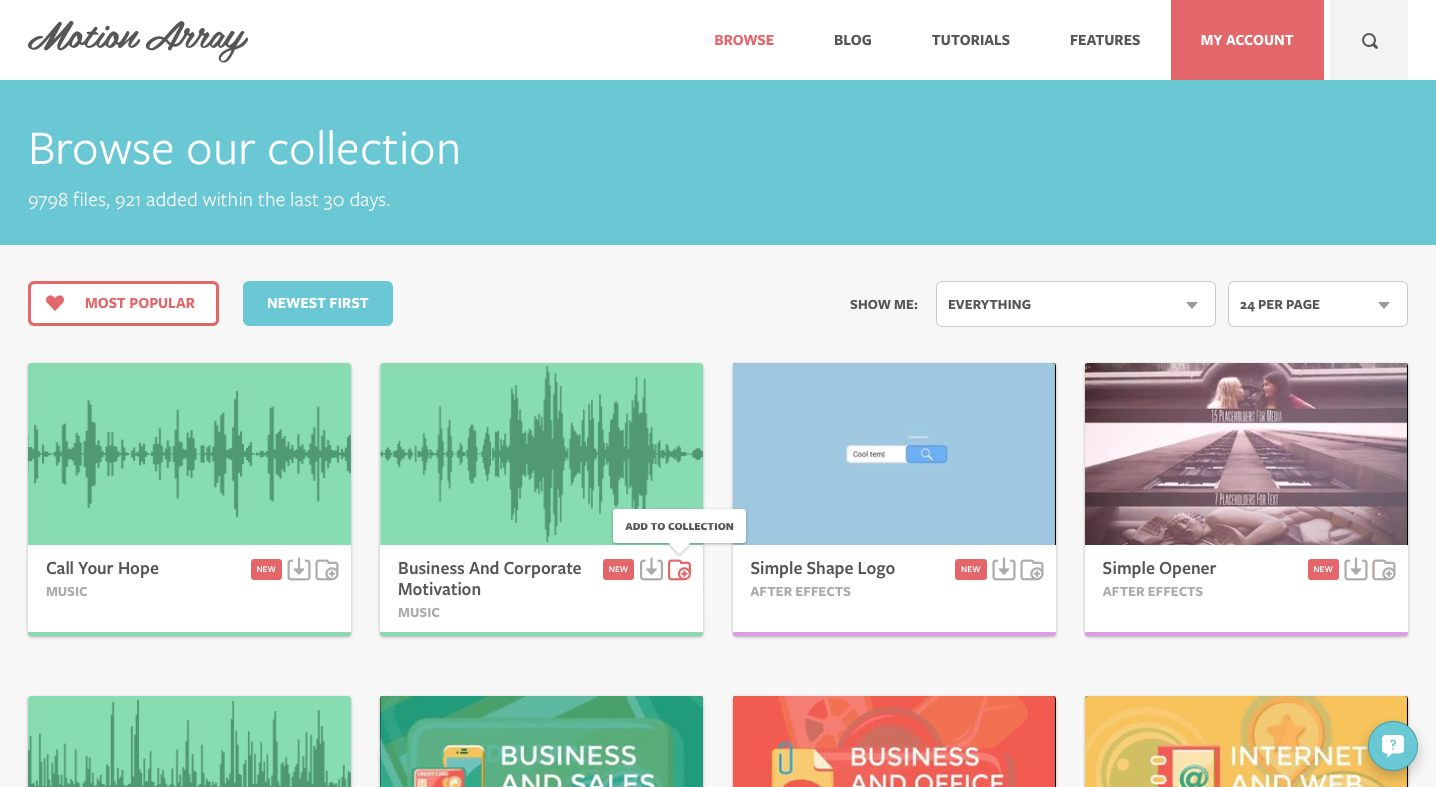 Motion Array: A Library of Templates, Stock Music, and