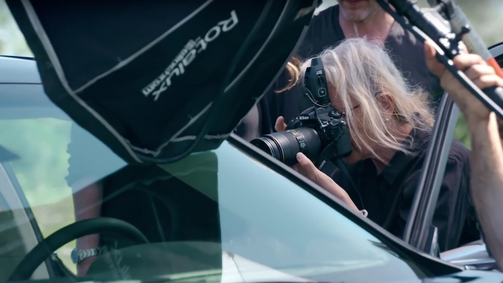 Lincoln Continental behind the scenes with Annie Leibovitz shooting the car interior
