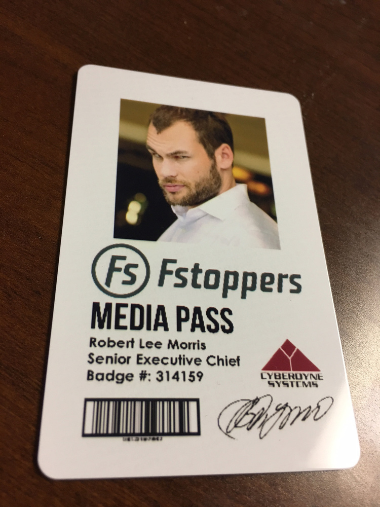Today I Got My Homemade Media Passes In The Mail   Fstoppers
