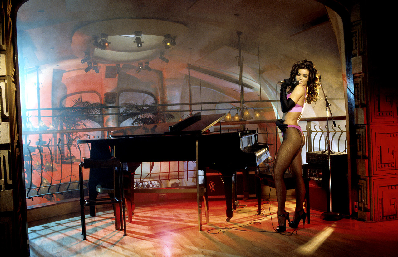 Carmen Electra at the Piano