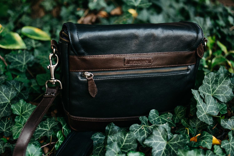 Wotancraft Ryker Leather Camera Bag Back Side Pocket