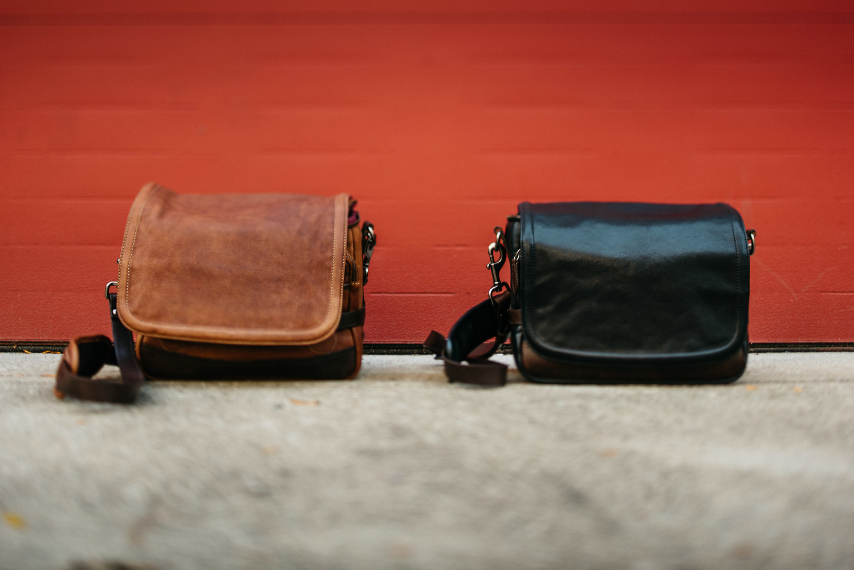 Wotancraft Ryker Leather Camera Bag Leica Mirrorless Rangefinder Black Brown