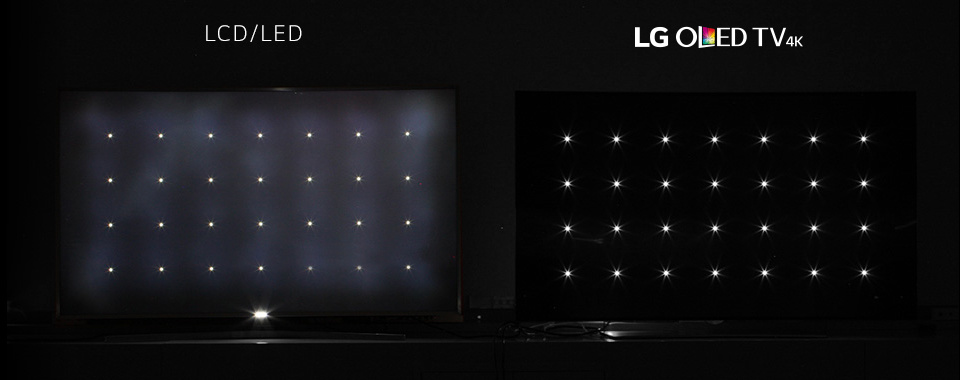LG OLED TV has no light bleeding unlike LCD TV