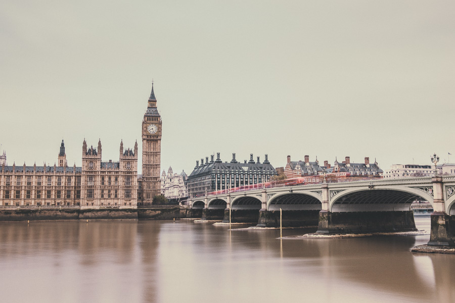 River Thames at the Palace of Westminster, London