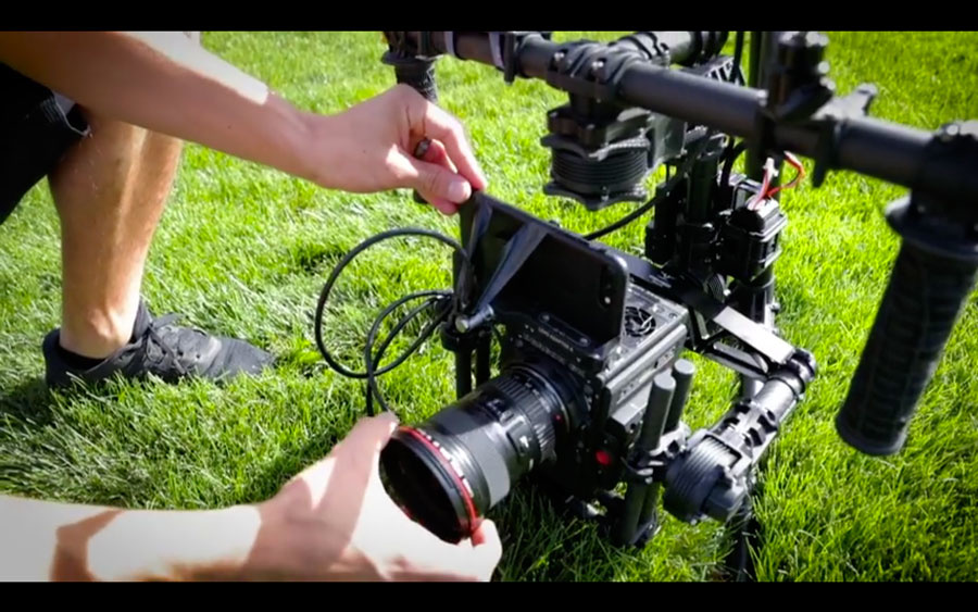 iPhone and RED Weapon on a MoVi