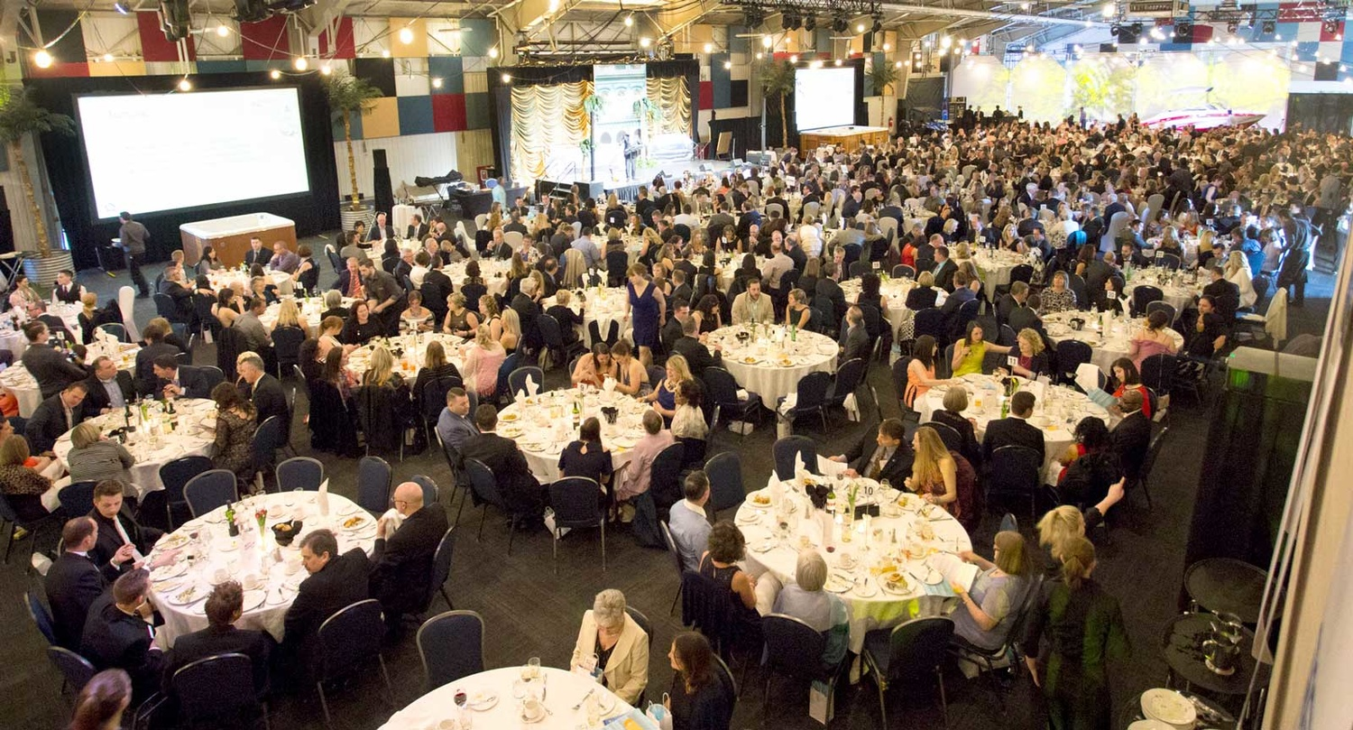 large banquet with many tables