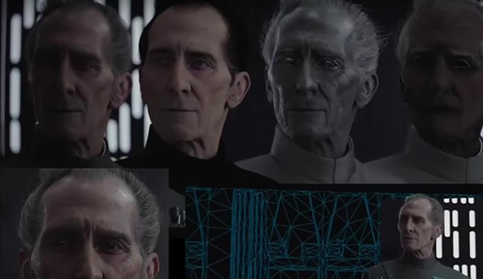 How Rogue One Created Full CGI Characters Of Peter Cushing And - Scenes original star wars created cgi