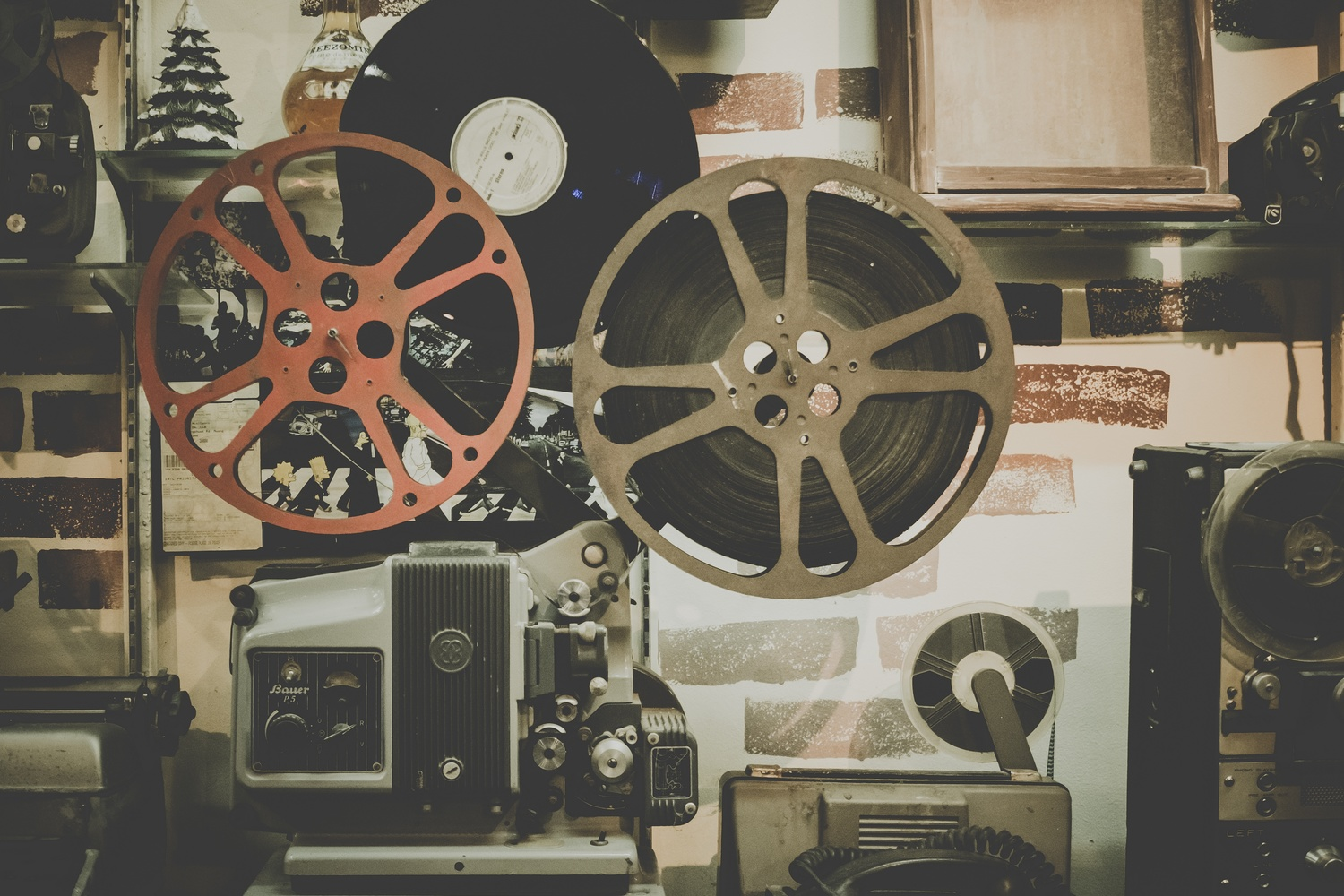 Film Projector and Vinyl Record