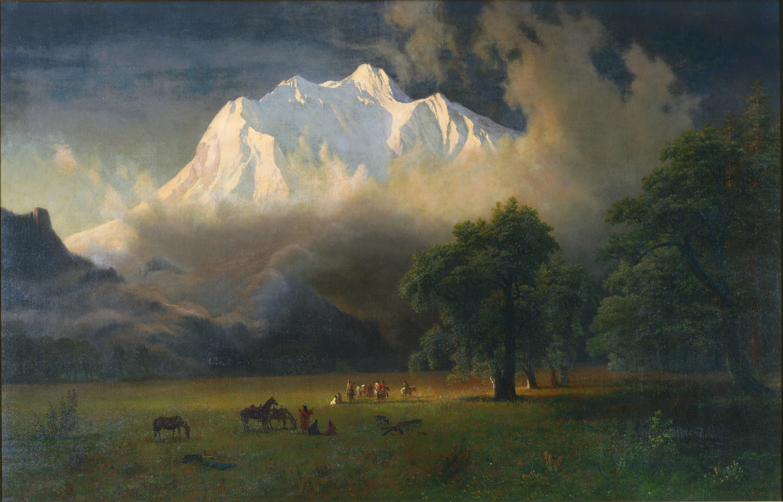 Painting by Albert Bierstadt - Mount Adams Washington 1875