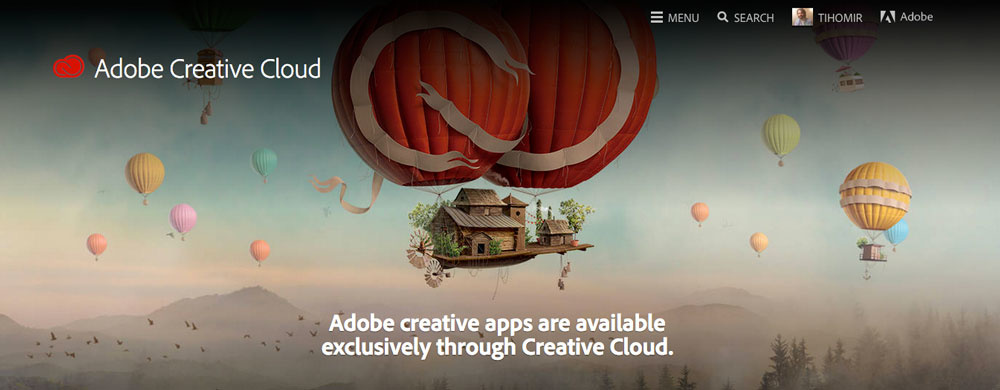 Notice that Adobe Creative Suite is not available anymore