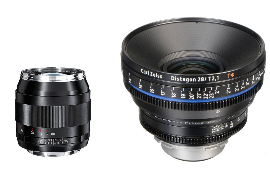 Zeiss 28mm cinema vs. stills lens