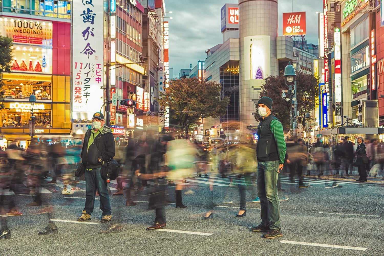 long exposure, city, tokyo, shibuya